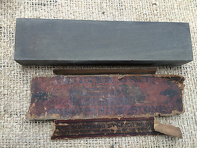 Vintage Natural Silver Grit Razor (Dalmore Blue)  Hone Hone sharpening stone