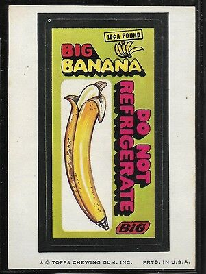 Trading Card Sticker 1970's Wacky Packages Big Banana  Brown Back