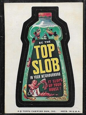 Trading Card Sticker 1970's Wacky Packages Top Slob  Brown Back