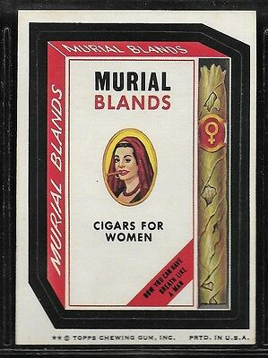 Trading Card Sticker 1970's Wacky Packages Murial Blands Cigars  Brown Back