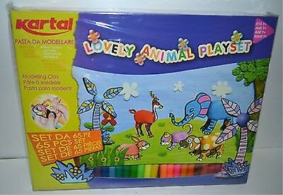 Kartal Lovely Animal Playset | Pasta Da Modellare Set 65Pz Decorare Nuovo '