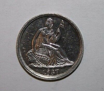 1837 Seated Liberty Half Silver Dime H2