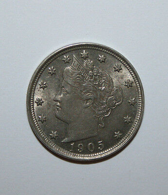 1905 Liberty Head V Nickel W13