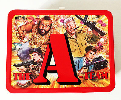 1983 A-Team Metal Lunch Box 100% Mint Condition. Opened Only For Photography.