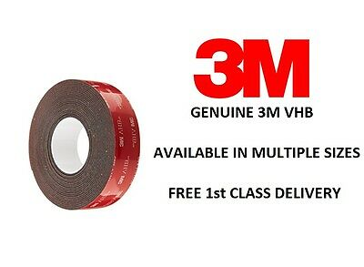 3M VHB GPH-110GF Double Sided Grey Foam Tape.12 & 19mm Width. 0.6 & 1.1mm Thick