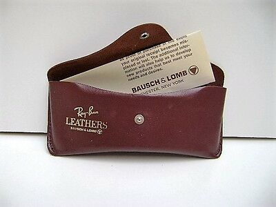 Vintage Bausch & Lomb Ray-Ban Brown Leather Sunglasses Case Only