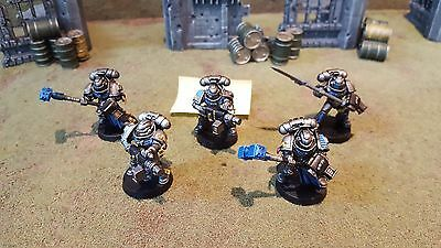 Warhammer 40k Grey Knights Space Marines Strike Squad X5, well painted (GS3)