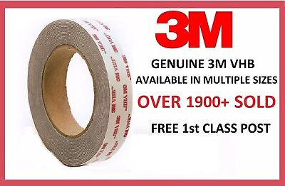 3M VHB Double Sided Foam Tape. 12 & 19mm Width. 0.6 & 1.1 & 1.5mm Thickness.