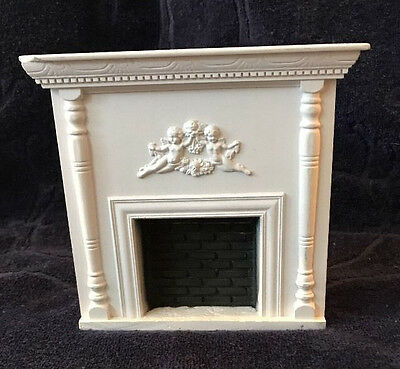 Doll House Fireplace 1:12  Ceramic  Victorian