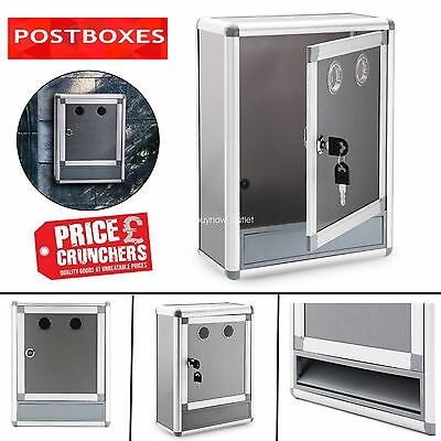 Post Box steel Modern Apartment Letterbox Lockable Wall Mounted Mail Newspaper