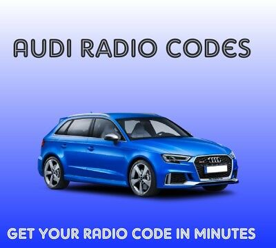 Audi Radio Code Unlock Pin Decode - 30 Minute Fast Service 7am to 9pm