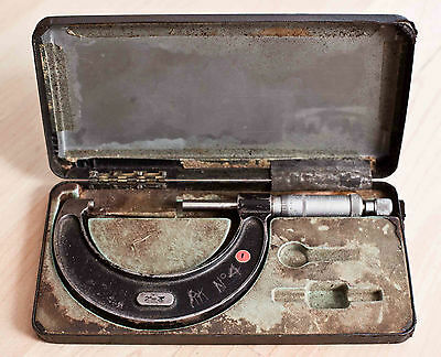 """Moore and Wright 2"""" to 3"""" Imperial micrometer. In case as pictured.  GWO"""