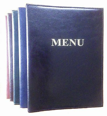 SALE ! MENU COVER A5 holder 6 pockets PUB sewn bolted folder catering RESTAURANT