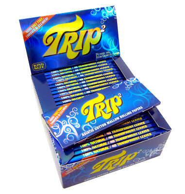 Trip 2 Transparent Clear Rolling Paper Asiatic Cotton Cigarette Joint Rollers