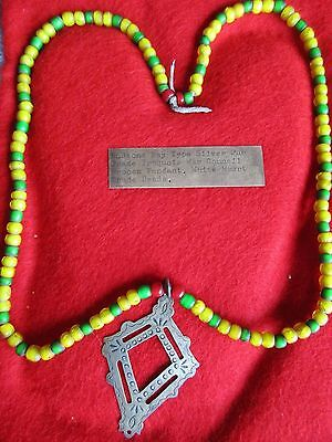 Hudson Bay, Fur Trade Silver Gorget, Engraved Iroquois Necklace  # Buf-01203