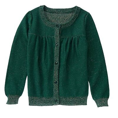 Gymboree All Spruced Up Green Cardigan Sweater New NWT Girls Medium 7 8 gold