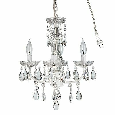Amalfi Decor 4 Light Crystal Chandelier Wrought Iron Swag Lamp Pendant Lighting