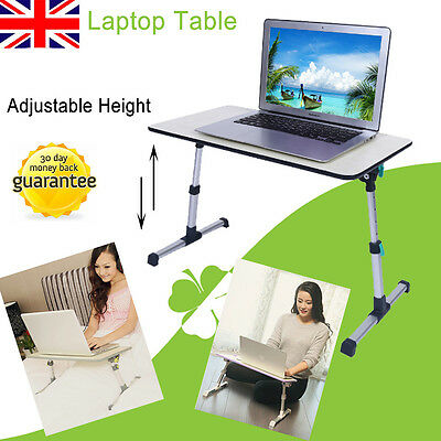 Adjustable Height Laptop Desk Computer Table Sofa Breakfast Bed Tray Grey Color