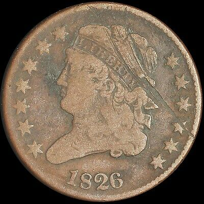 1826 Classic Head Half Cent - Free Shipping USA