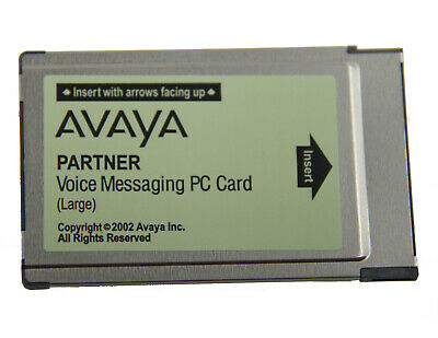 Avaya Partner Acs Voice Messaging Pc Card Large Voicemail Lucent 700226525 Cwd4B