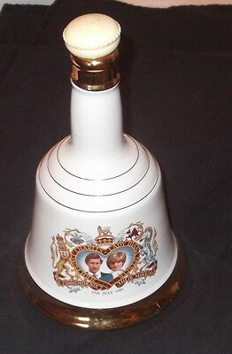 Wade Royal Commemorative Large Whisky Bell, Charles and Diana Wedding