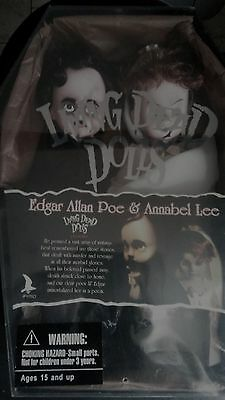 Mezco Living Dead Dolls Exclusive Edgar Allan Poe & Annabel Lee Rare- Sealed