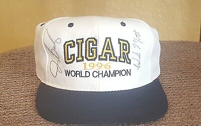 Cigar Race Horse Baseball Cap Signed by Jerry Bailey and Bill Mott