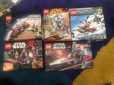 Lego Star Wars Figures Microfighter Star Wars Set Mix Box Job Lot