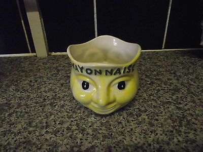 Vintage China Mayonnaise Smiley Face Pot By Price Kensington