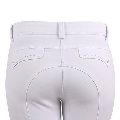 Animo Ladies  Breeches Jods Jodhpurs white & black  with animo gripping BN
