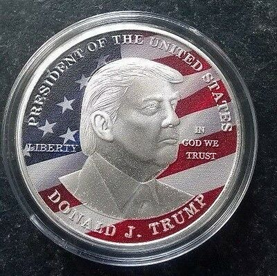 PRESIDENT DONALD J TRUMP USA SILVER COIN Make AMERICA GREAT AGAIN Liberty ,,,,