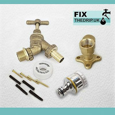 Professional HozeLock Outside Garden Tap kit  Water Regs GT12PRO