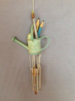 Hallmark Marjolein Bastin Wind Chime Nature's Sketchbook  Watering Can Pencils