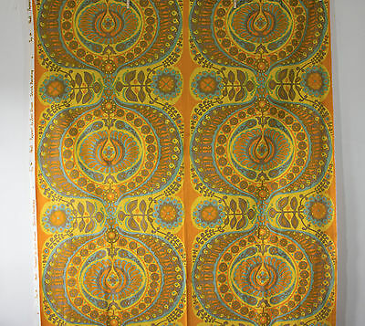 vintage 1966 Heals Jyoti Bhomik Pageant Moroccan print cotton barkcloth fabric