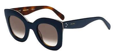 Celine Marta Women's Oversized Blue Havana Sunglasses Made In Italy 41093S 027