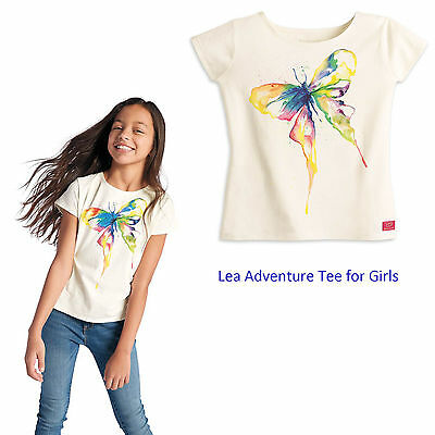 American Girl CL LE LEA ADVENTURE TEE LARGE 14/16 Girl Butterfly Shirt NEW