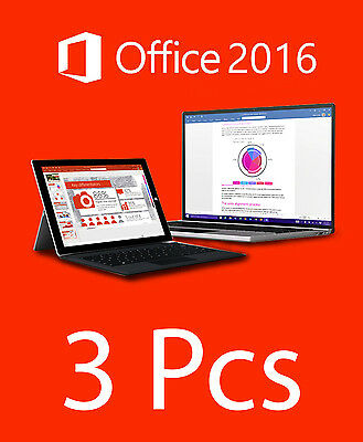 3PCs Licencia Office 2016 STANDARD - Español - Spanish Only - 3PCs