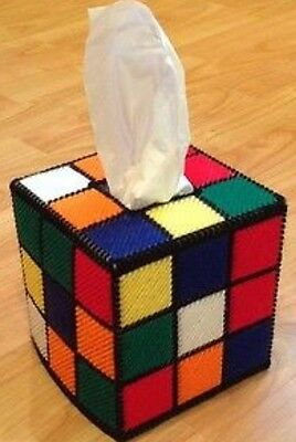 Big Bang Theory, Rubik's Cube, Plastic Canvas Tissue box cover, as seen on BBT!