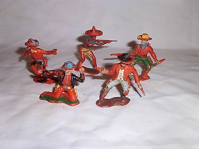 Vintage plastic toy soldiers 60mm cresent cowboys