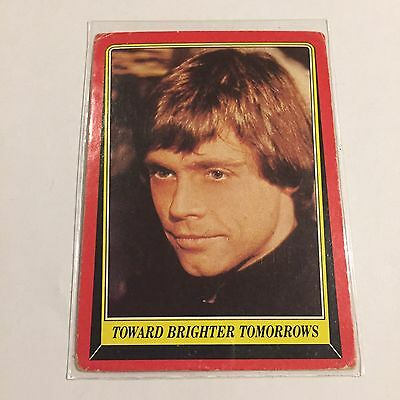 1983 SCANLENS TOPPS Card Star Wars Return Of The Jedi Brighter Tomorrows #130