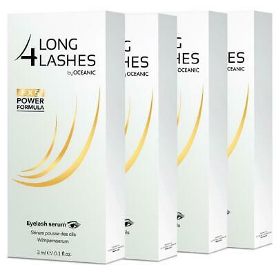 4x Long4lashes Wimpernserum FX5 Neue Power Formel 3ml