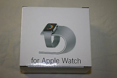 NIB Apple watch charging stand!!  Silver color Aluminum material.