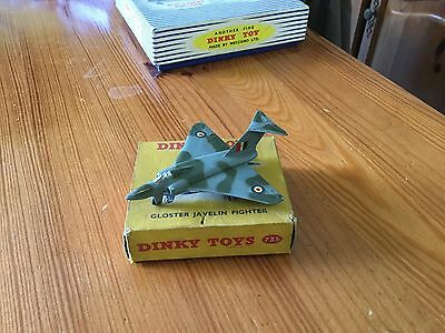 RARE DINKY TOYS,GLOSTER JAVELIN FIGHTER AEROPLANE,No 735, VERY NEAR MINT,BOXED