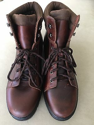 """NWOB Men's Timberland 6""""  Waterproof Brown Leather Boots, Size 13M"""