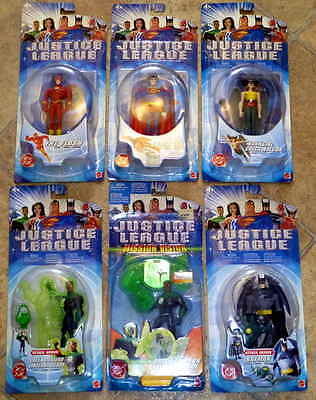 Lot of 6 2003 Mattel Justice League Figures The Flash Batman Superman Hawkgirl++