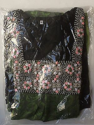 Indian Pakistani Clothing Trousers Top Scarf Size M 3pc Green BNIP