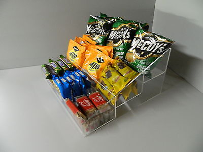 Sweet chocolate bar, crisps, Condiment 3 Step counter display 3 Sizes