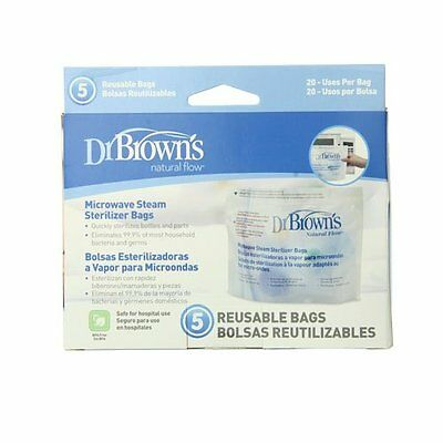 Dr. Brown's Microwave Steam Sterilizer Bags BPA Free 5 Bags