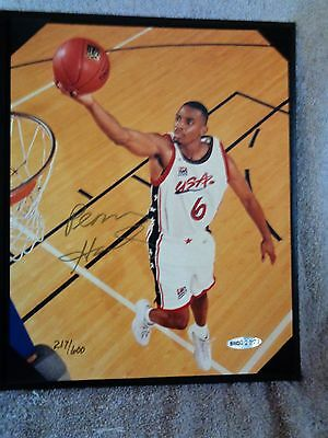 "Upper Deck Basketball's Penny Hardaway Authentic Autographed 8 x 10  ""Dream Team"