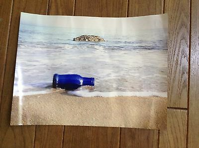 Photograph Cobalt Blue Bottle at Sea bought in Paris